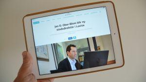 Lovisa stads nya stadsdirektör 13.09.17