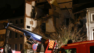 Bostadshus rasade i Antwerpen-