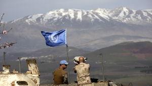 FN:s fredsbevarare på Golanhöjderna vid den spända gränsen mellan Israel och Syrien