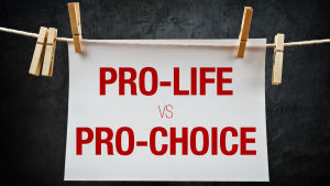Pro-life vs pro-choice-plakat.