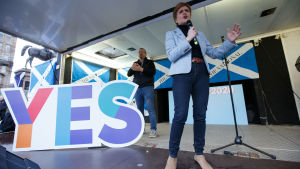 Nicola Sturgeon talar för skotsk självständighet 2.11.2019 i Glasgow