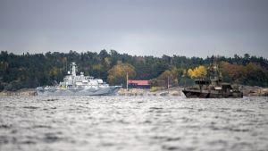 Operationen i Stockholms skärgård fortsatte den 21 oktober 2014.