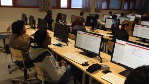 IT-studerande på Yrkeshögskolan Centria i Karleby
