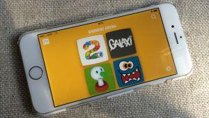 Bild av telefon med barnarenans ingångssida