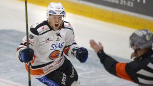 Eero Somervuori firar 1-0-målet mot HIFK.