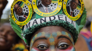ANC-anhängare i Johannesburg år 2014.