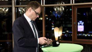 Centerns ordförande Juha Sipilä under Centerns valvaka i kommunalvalet 9 april.