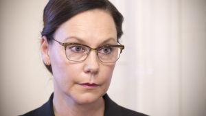 Anne-Mari Virolainen (kok.)  ulkomaankauppa- ja kehitysministeri.