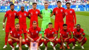 Englands startelva i kvartsfinalen mot Sverige.