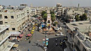 Centrum av staden Idlib. Bilden tagen den 30 september 2018.