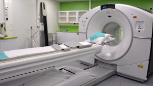 PET/CT-kameran vid isotopenheten i Vasa centralsjukhus.