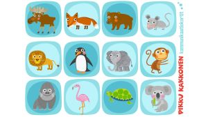 Pikku Kakkosen kommunikaatikortit eläimet