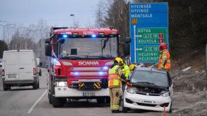 Trafikolycka med mopedbil i Borgå 04.03.2019