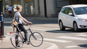 bild på en cyklist