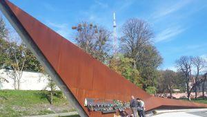 Memorial of the heavenly hundred, minnesmärke över de döda på majdan.