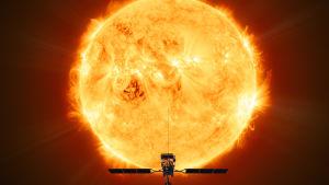 Solar Orbiter som förhoppningsvis fungerar i nio år, når sin observationsplats nära solen om ungefär två år.