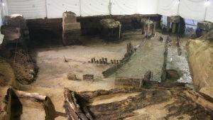 Utgrävningar vid Nyenskans i Sankt Petersburg.