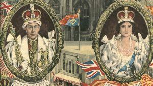tecknad affisch från George VI:s kröningsdag