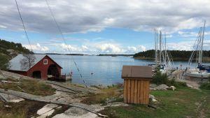 Brännskärs gästhamn i Åbolands skärgård.