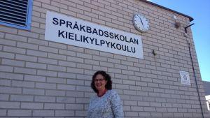 Språkbadsskolans rektor Kristiina Hellstrand.