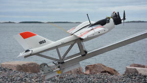 Obemannd luftfarkost på väg från Hangö till Hapsal i Estland.