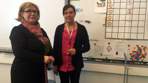 Camilla Herlin är rektor och Kerstin Grönqvist lärare i Finno skola i Esbo.