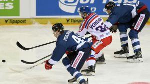 Finland - Tjeckien i EHT-turneringen i Moskva.