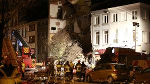 Flera personer skadades i gasexplosion i bostadshus i Antwerpen.