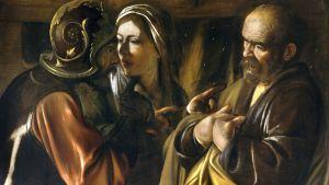 """Caravaggios målning """"Petrus förnekelse"""""""