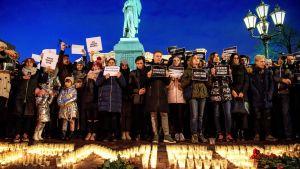Tusentals demonstranter i Moskva efter den förödande branden i Sibirien.