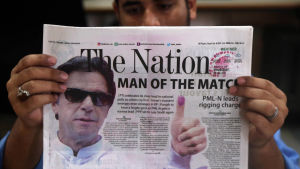 Cricketlegenden och arméns marionett Imran Khan.