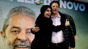 Lulas vicepresidentkandidat Fernando Haddad skulle sannolikt bli den starkaste kandidaten om och när Lula utesluts från presidentvalet