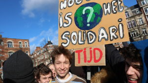 klimatdemonstrant i belgiska leuven 7.2.2019