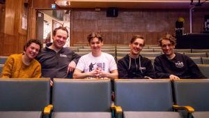 Susanne Marins, Jonas Bergqvist, Jakob Norrgård, Kevin Holmström och Axel Åhman