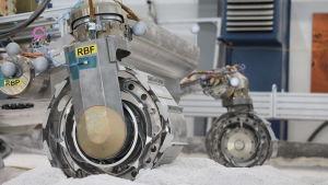 ExoMars-kulkijan mallikappale testaa pyöriä.
