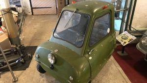 Världens minsta bil på Esbo bilmuseum