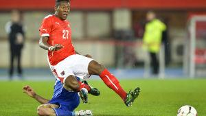David Alaba är skadad och kan inte spela på sju veckor.