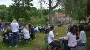 Management Events personal på sommarträff i Billnäs bruk.