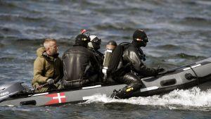 Danska försvarsmaktens dykare den 23.8.2017
