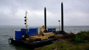 Terramare bygger kaj i Valkom hamn
