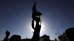 Protest i Yemen.