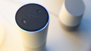 Amazonin ja Googlen puheohjaus-laitteet oskari Ojalan kotona 29.10.2018.