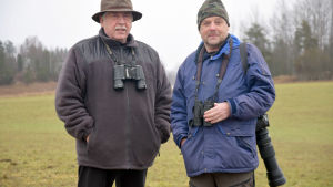 Hans Lindholm och Roger Morberg står bredvid varandra.