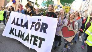 Klimatdemonstration i Stockholm.