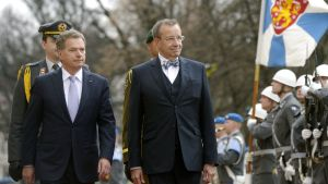 President Sauli Niinistö och Estlands president Toomas Hendrik Ilves möttes i Helsingfors på tisdagen.