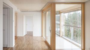 Arkkitehti Anssi Lassilan suunnittelema Puukuokan asuinalue