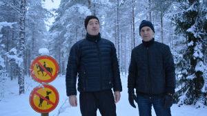 Yngve Sandström och Håkan Holmqvist från IF Brahe