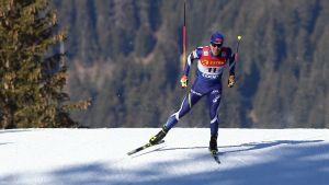 Ristomatti Hakola åker skidor i Toblach.