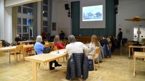 Bild från informations- och diskussionsmötet.