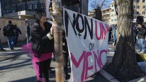 Demonstration för aborträtten Rom 2018